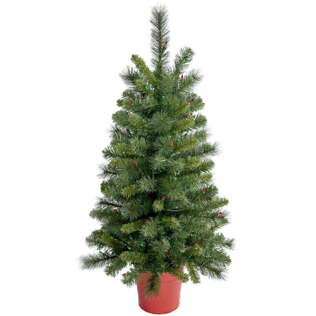 E1 3ft Pre Lit Poppy Christmas Tree