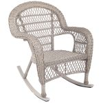 Stackable Wicker Rocking Chair Taupe At Home