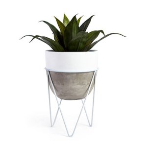 Planters   Plant Pots   At Home Clay and Metal Planter
