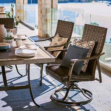 Patio Furniture   At Home Catalina Outdoor Furniture Set