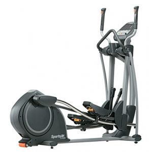 The SportsArt E825 Elliptical Machine features a 17-26 inch adjustable stride and it has a 10-year parts warranty for residential use.