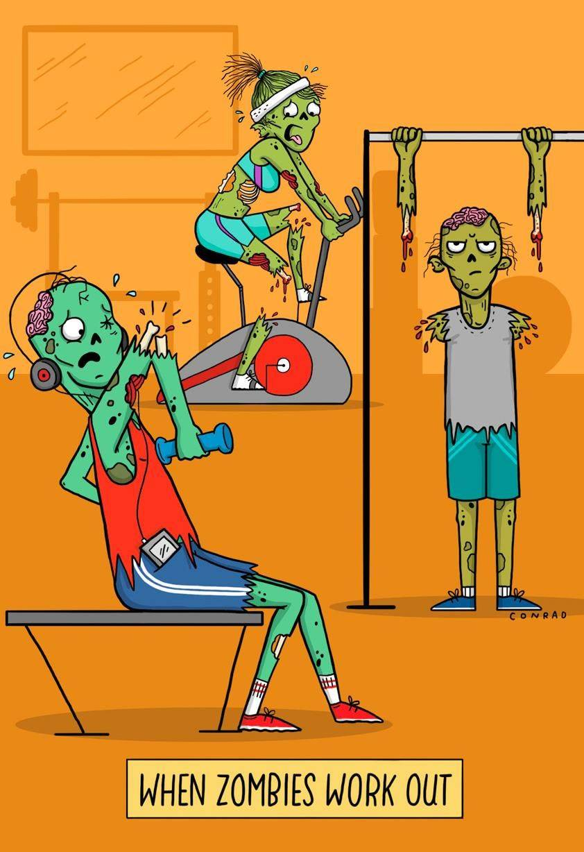 When Zombies Work Out