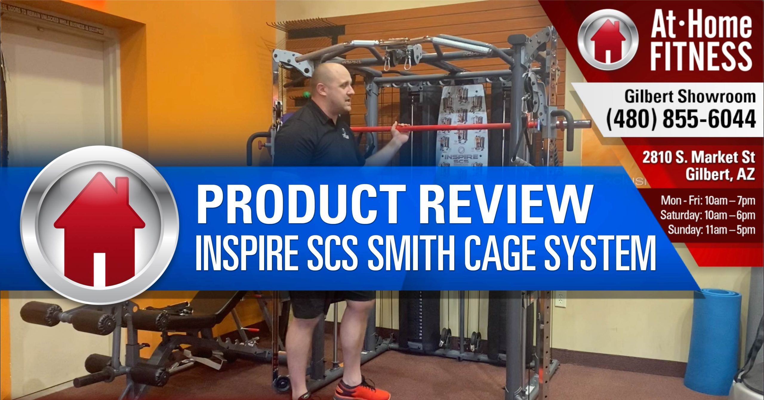 Inspire SCS Smith Cage System gives owners the ultimate home gym
