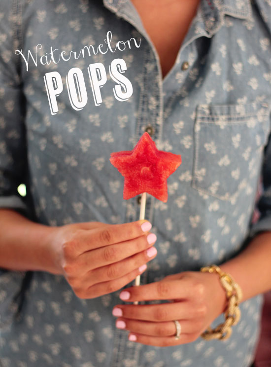 Make star-shaped watermelon pops