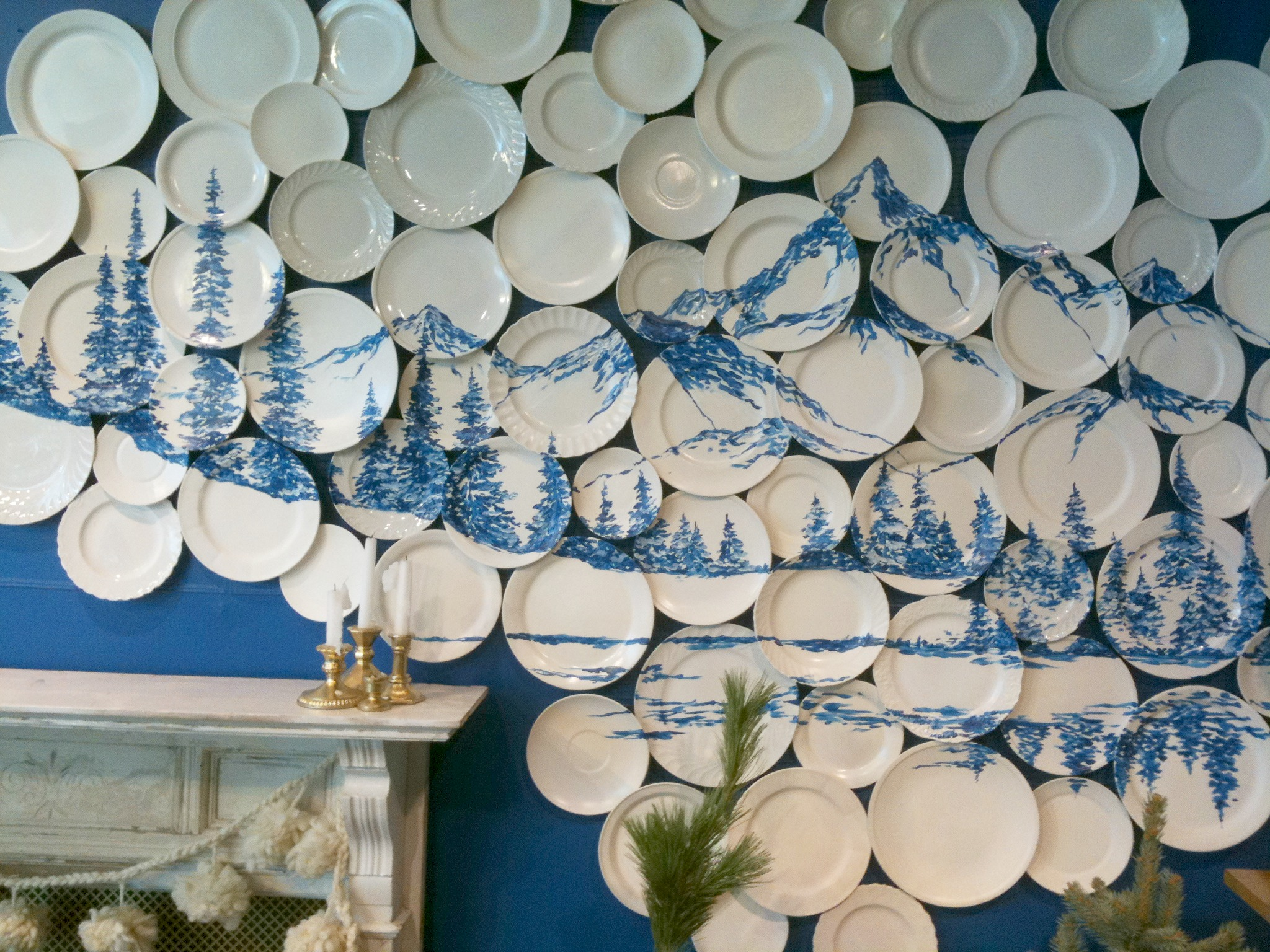 An Anthropologie Plate Gallery