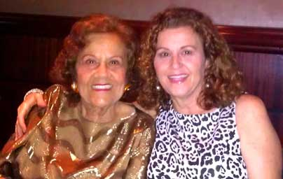 At Home Senior Care of Broward founder Phyllis Timlin with her mother