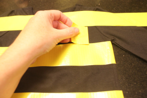 spacing bee stripes for DIY bee costume