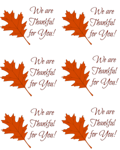 picture regarding Free Printable Thanksgiving Tags referred to as Caregiver Thank Your self Present Tag Cost-free Printable At House with