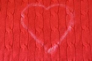 Valentine Sweater chalked heart