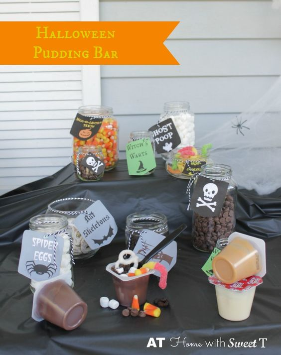 Halloween Pudding Bar