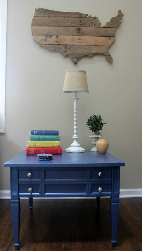 Navy Side Table`