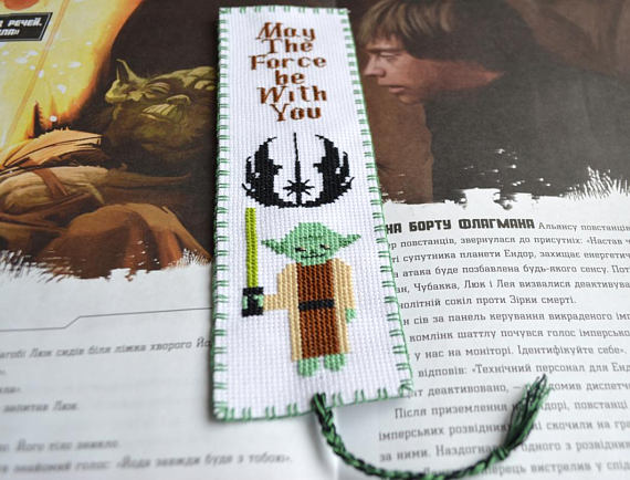 Yoda pattern for cross stiching