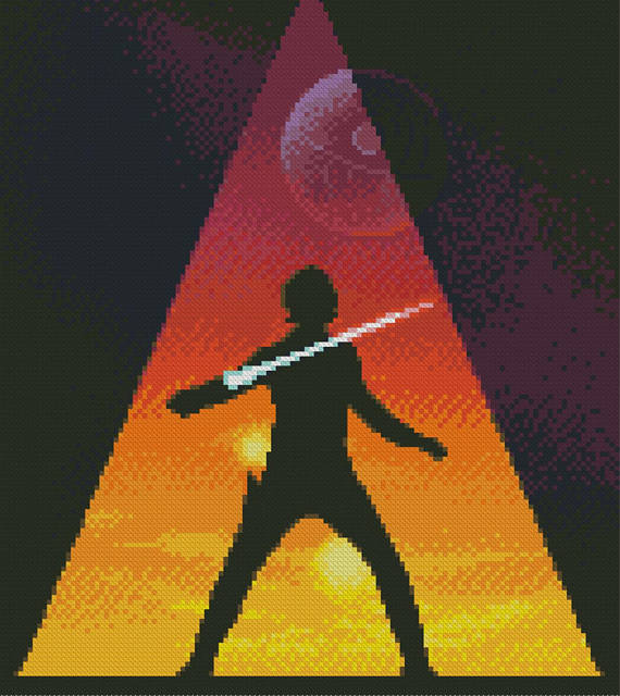 Last Jedi cross stitch pattern
