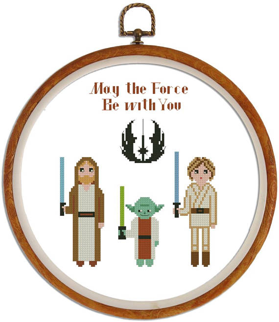 Jedi cross stitch pattern