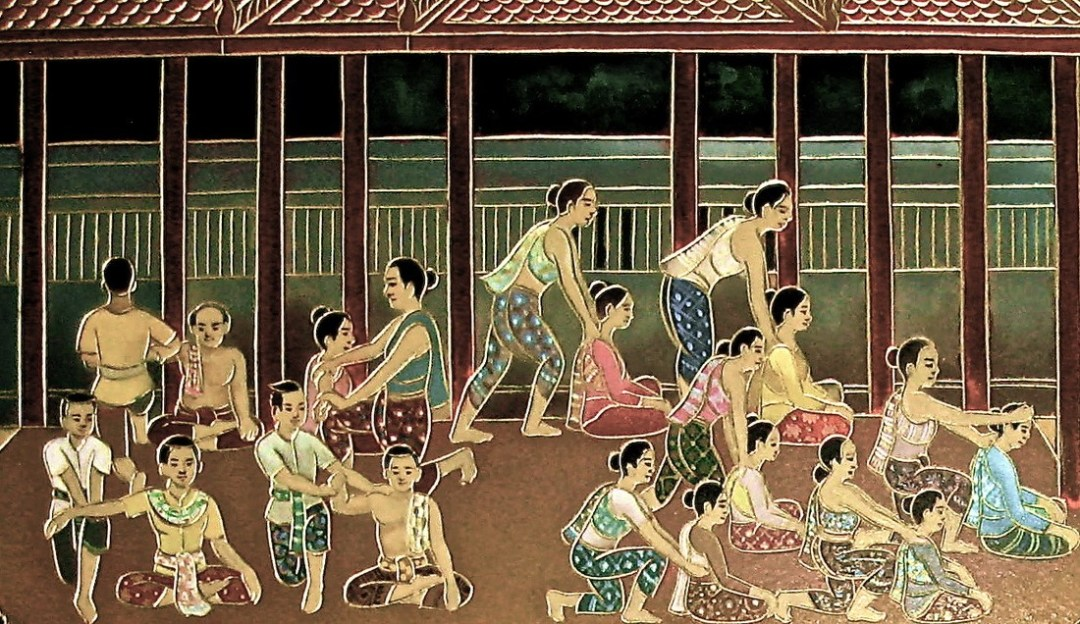 Illustration Massage thaïlandais traditionnel Nuad Boran