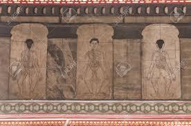 Représentation des tablettes en pierre du temple à Wat Pho