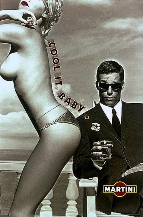 Fesses illustrant une publicité pour Martini