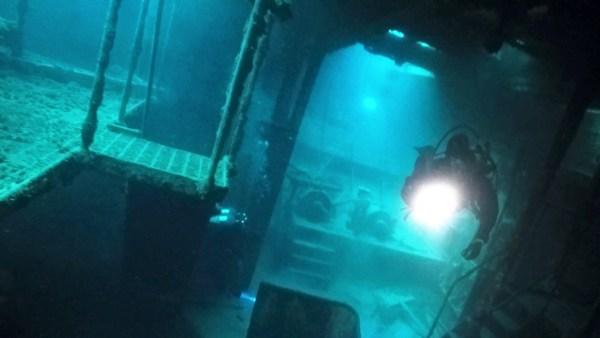 the Straits of Mackinac shipwreck dive
