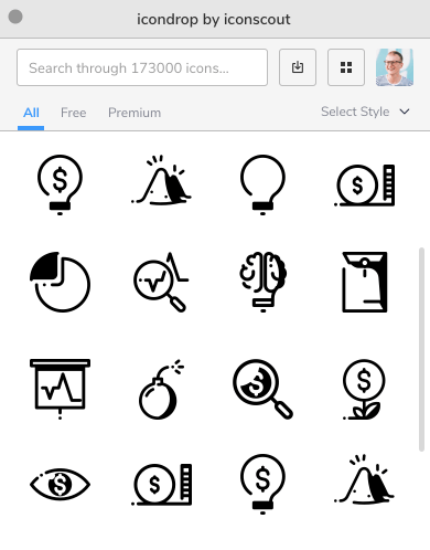 Icondrop Screenshot