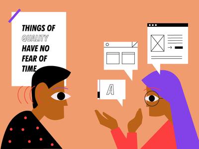 User Value  quote quality conversation customer user web illustration design ux ui