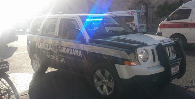 Tras una persecución, el individuo detuvo su marcha tras chocar con otro vehículo en el cruce de la Avenida Madero, esquina con Fray Juan de San Miguel (FOTO: FRANCISCO ALBERTO SOTOMAYOR).