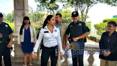 En presencia del jefe de Tenencia, Wilberth Rosas, la comisaria Maldonado Sánchez se comprometió a instalar filtros de revisión, patrullajes de prevención y disuasión y otras acciones de seguridad (FOTO: FRANCISCO ALBERTO SOTOMAYOR)