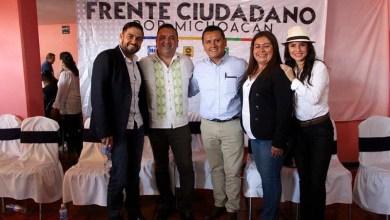 Los diputados Manuel López, Belinda Iturbide, y Nalleli Pedraza participan en los Foros por el Frente Ciudadano por Michoacán
