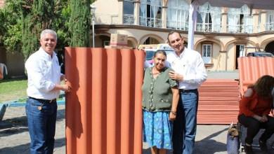 Antonio Soto detalló que, esta es una primera entrega a 70 familias de ocho de las colonias más afectadas de este municipio