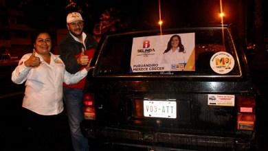 """""""Puruándiro merece crecer y hoy PRD, PAN y Movimiento Ciudadano, estamos juntos porque queremos que las cosas se hagan diferente"""": Belinda Iturbide"""