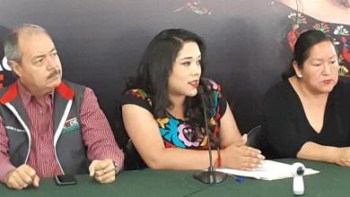 En esta rueda de prensa, Xóchitl Ruiz fue acompañada por el presidente del Comité Directivo Estatal del PRI, Víctor Silva Tejeda (FOTO: SEBASTIÁN CASIMIRO)