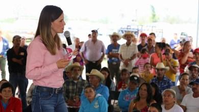En Tirio la candidata llamó a confiar en su proyecto de trabajo el próximo 1 de julio