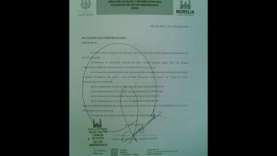 Los oficios van presuntamente firmados por Víctor Manuel Amezcua Arista, como delegado del Ayuntamiento de Morelia en el Sector Independencia