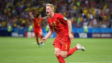 El segundo gol de los europeos recordó al del contraataque frente a Japón, pero esta vez fue Kevin De Bruyne quien culminó la acción con un potente remate