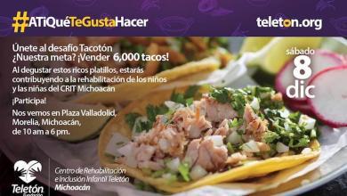 """El """"Tacotón"""" forma parte del """"Evento Teletón 2018""""; en el cual se realizan actividades simultáneas a nivel nacional para recaudar donaciones para los 24 Centros que existen en México"""