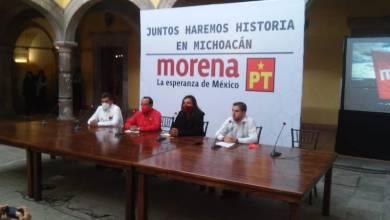 Sergio Pimentel, Martín Palacios, Morena, PT, Michoacán