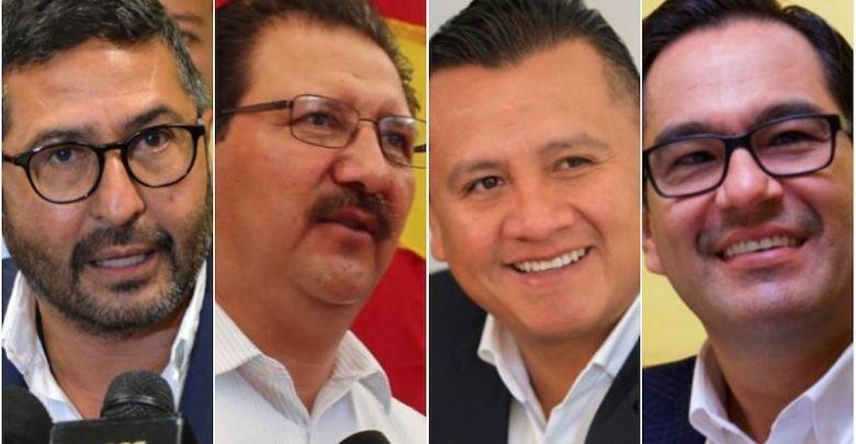 Víctor Báez, Reginaldo Sandoval, Carlos Torres Piña, Víctor Manuel Serrato