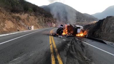 pipa, volcadura, incendio, Autopista Siglo XXI