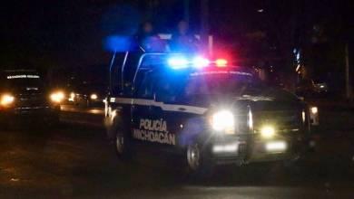 Policía Michoacán, noche, patrullas