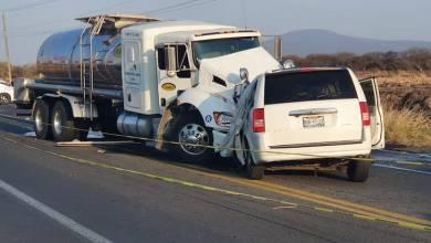 accidente carretero, choque de frente