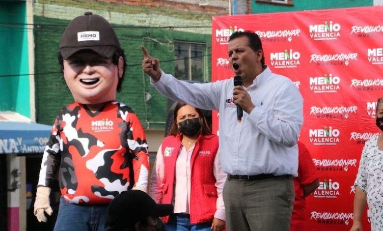 Memo Valencia, PRI, botarga