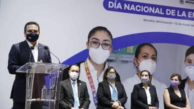 Silvano Aureoles, Día de la Enfermera