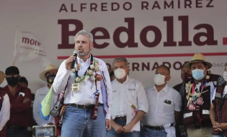 Alfredo Ramírez Bedolla, mitin