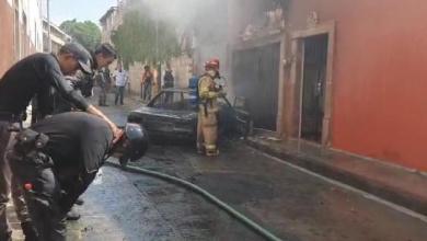 auto incendiado, Morelia