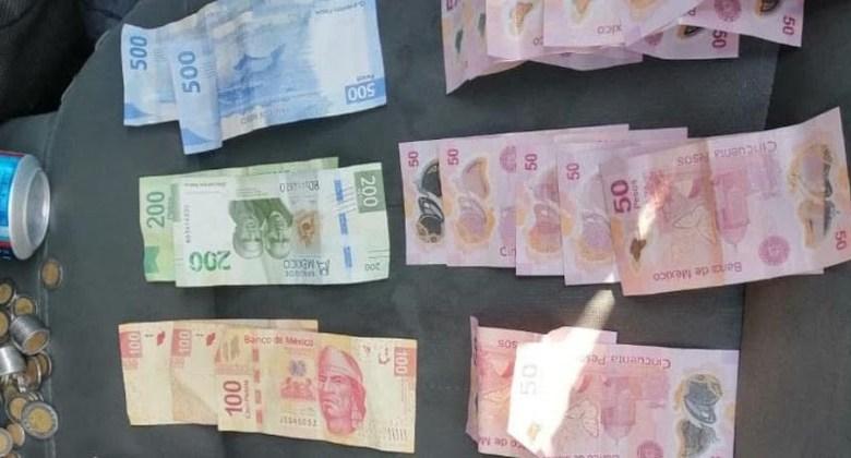 dinero mexicano, dinero robado