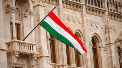 bandera, Hungría