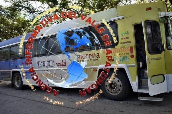 autobús, Morena, droga
