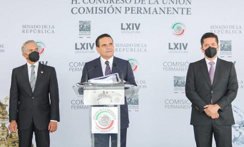 Silvano Aureoles, Miguel Ángel Mancera, Antonio García Conejo