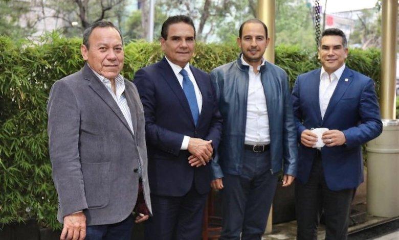 Jesús Zambrano, Silvano Aureoles, Marko Cortés, Alejandro Moreno