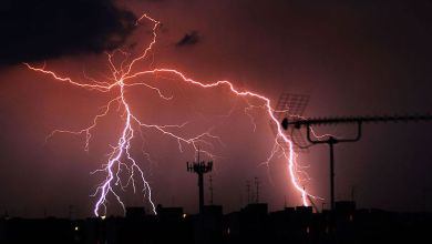 tormenta eléctrica, relámpago