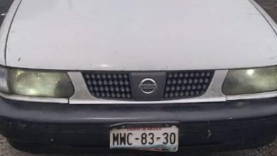 auto robado,placas de Guerrero